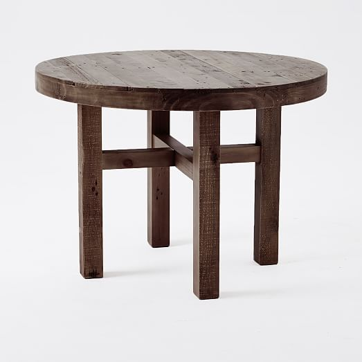 Emmerson Reclaimed Wood Round Dining Table West Elm