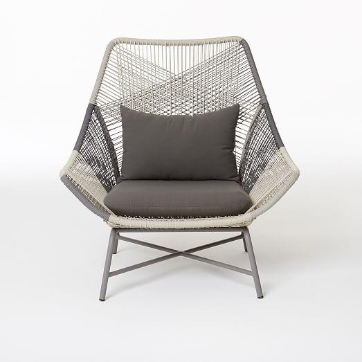 Huron Lounge Chair Cushion – Gray