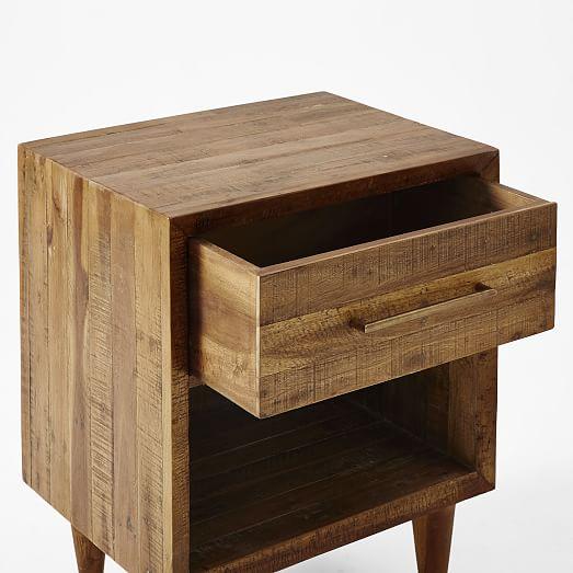 Alexa reclaimed wood nightstand west elm