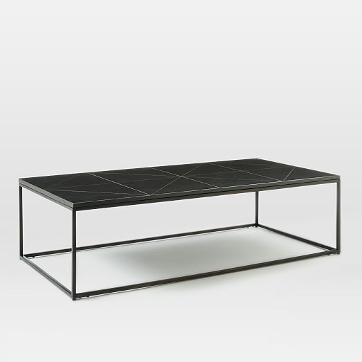 West Elm Stone Top Coffee Table: Etched Granite Coffee Table