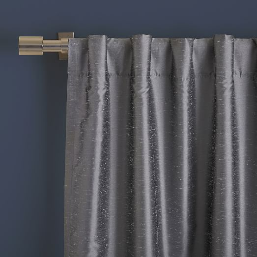 greenwich curtain blackout liner platinum west elm