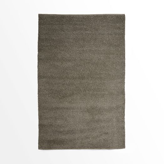 Steven Alan Solid Wool Shag Rug - Slate