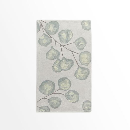Eucalyptus Rug, Frost Gray, 3'x5'