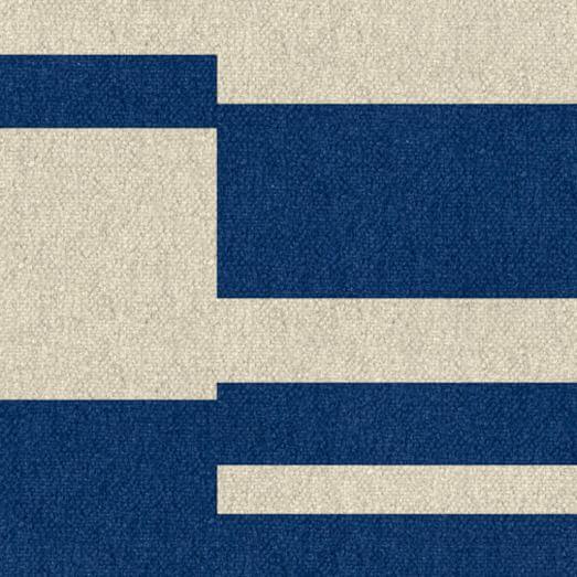 Custom Offset Stripe Dhurrie, True Blue, 16
