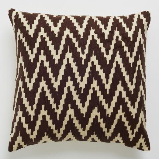 Chevron Crewel Pillow Cover, 20