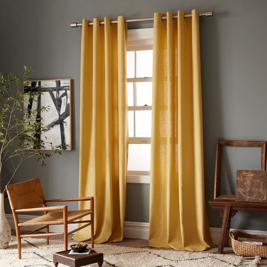 New Linen Cotton Window Panel, Grommet, 63