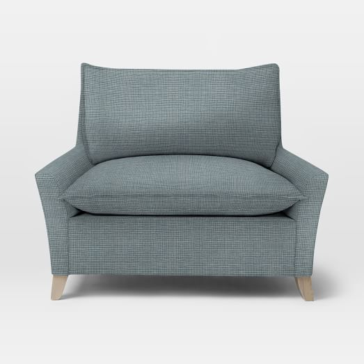 bliss down filled chair and a half west elm. Black Bedroom Furniture Sets. Home Design Ideas