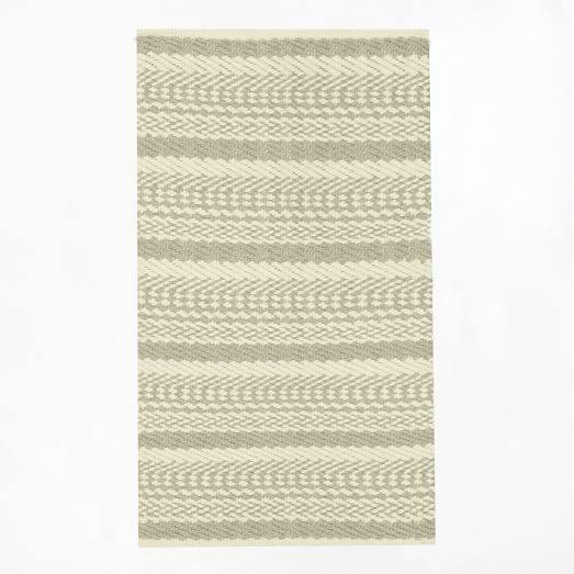 Fairisle Rug, 3'x5', Ivory/Feather Gray