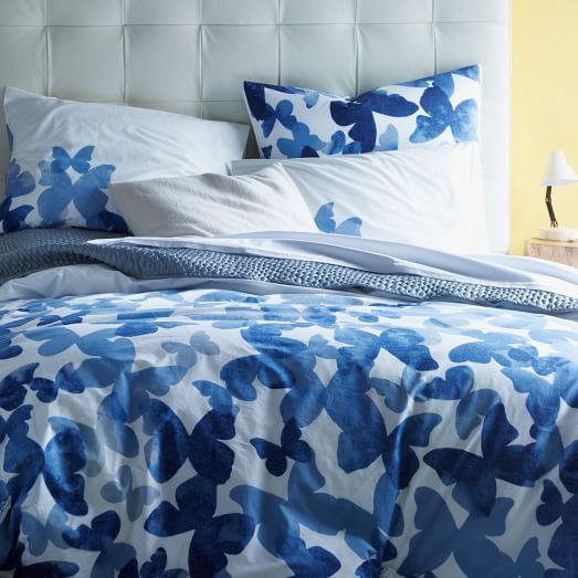 Organic Mariposa Duvet, Twin, Edgewater Blue
