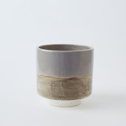 Dune Glazed Planter, Small, Neutral
