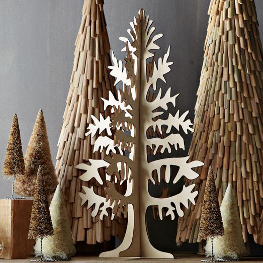 Wooden Cutout Tree, Large, Natural