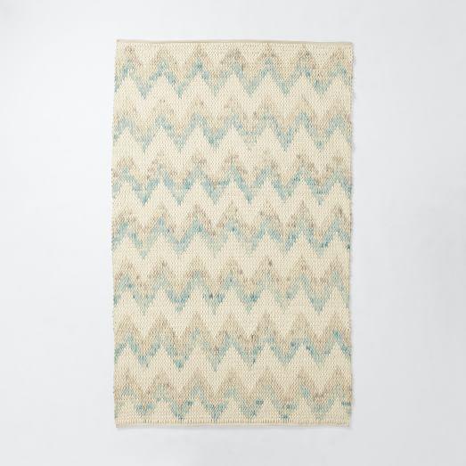 Watercolor Tide Wool, 3'x5' Light Pool