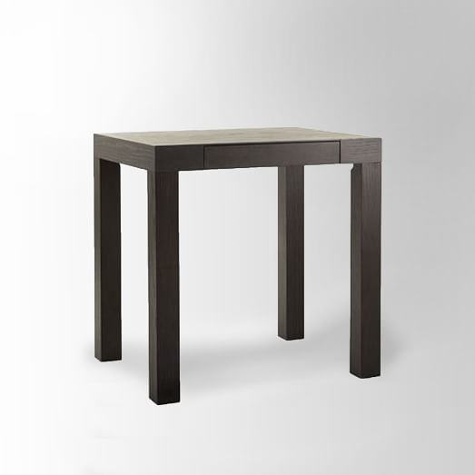 Parsons Mini Desk, Chocolate-Stained Veneer