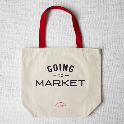 Market Tote Bag, Going to Market