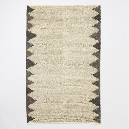 Steven Alan Triangle Edge Shag Rug, 3'x5', Neutral