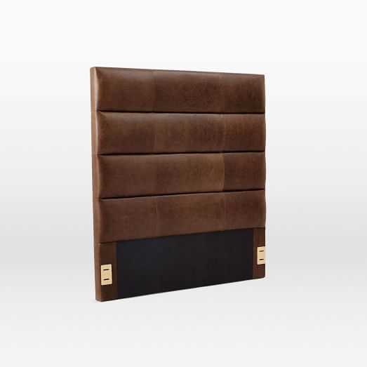 Panel Tufted Leather, King, Molasses