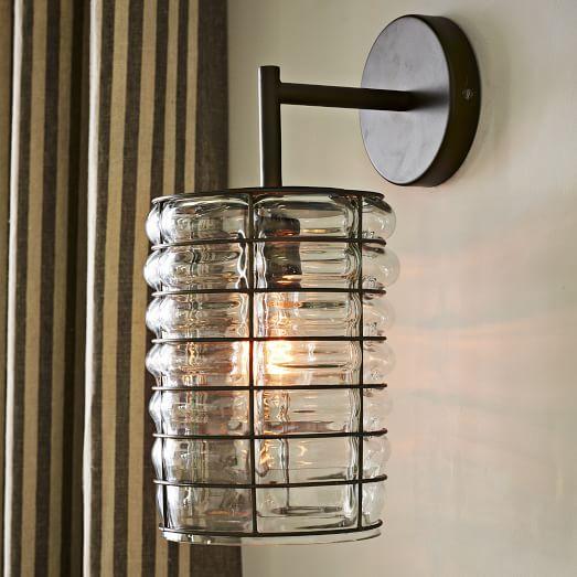 Linear Blown Glass Sconce