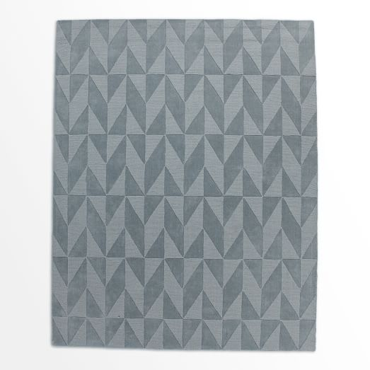 Andes Wool Rug, Dusty Blue, 9'x12'