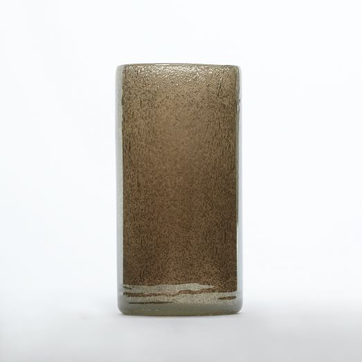 Iridescent Glass Hurricane, Medium, Charcoal