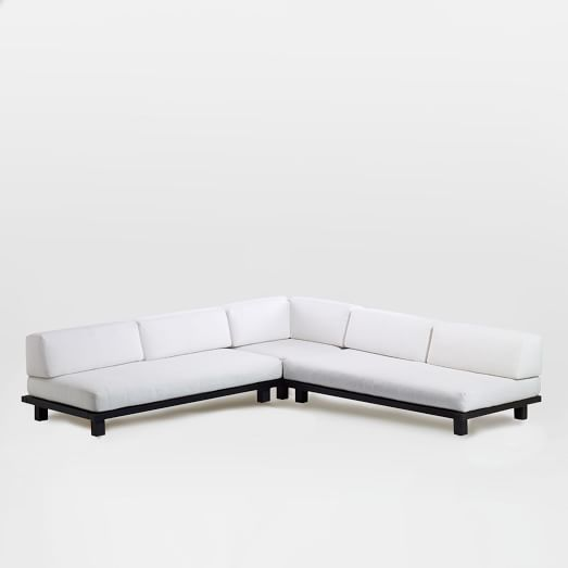 Tillary Outdoor Set 1 (2 Sofas, 1 Ottoman, 1 Corner Cushion, 4 Back Supports), Chocolate/White