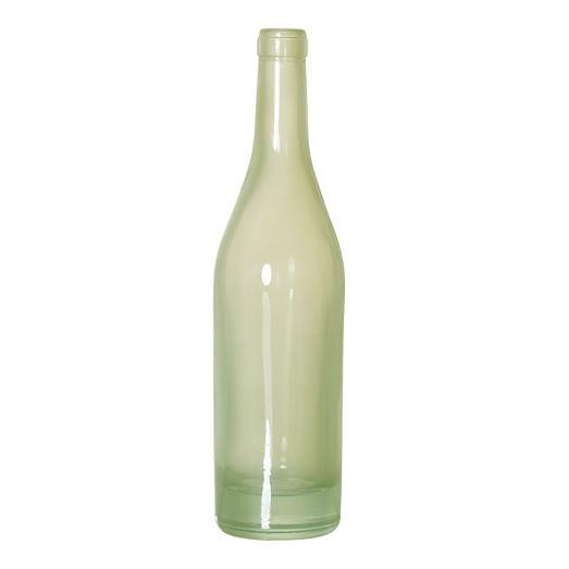 Wine Bottle Vase, Mint Green
