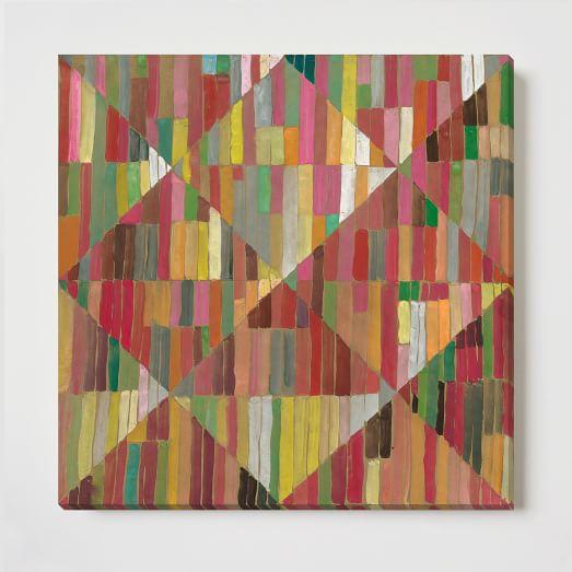 Canvas Print, Diamond Stripe
