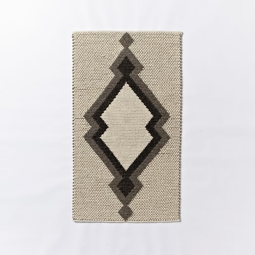 MIAC Santa Fe Rain Wool Rug, 3'x5', Ivory
