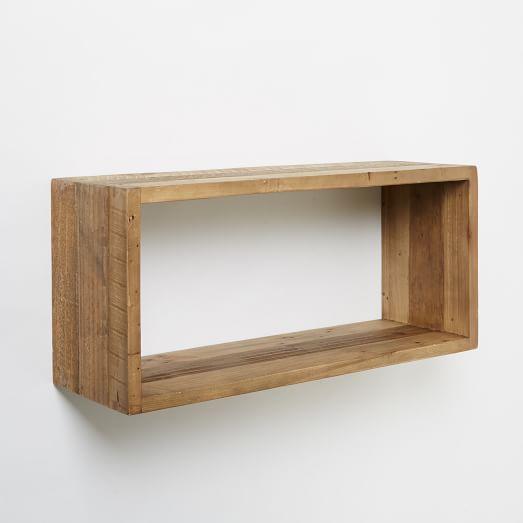 Reclaimed Pine Floating Box Shelf