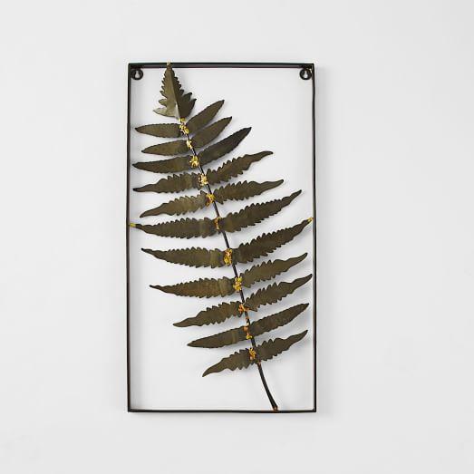 Metal Fern Wall Art, Feather