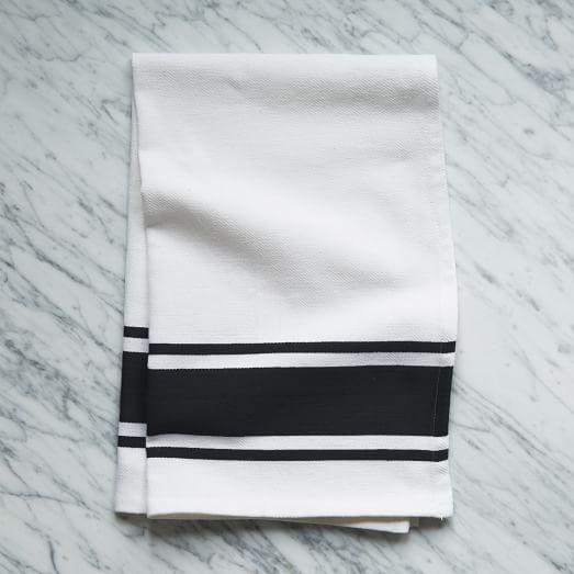 Square Dye Stripe Kitchen Towel, Iron