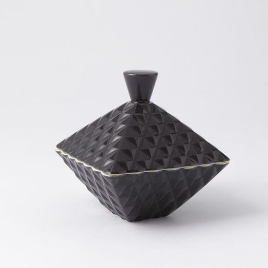 Diamond Textured Box - Cocoa