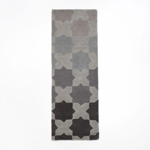 Illusion Rug, 2.5'x7', Slate