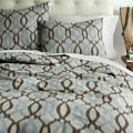 Organic Ikat Links Duvet Cover, Sable, Twin