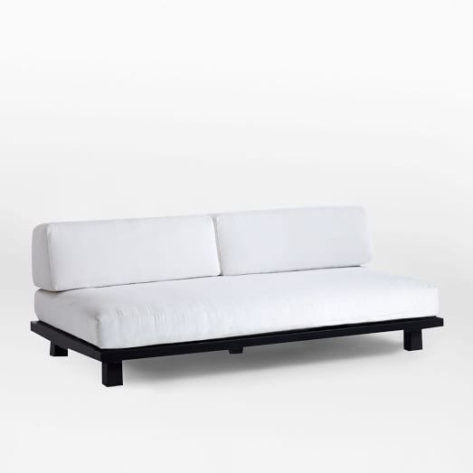 Tillary Outdoor Sofa 2 Back Support Cushions Chocolate White