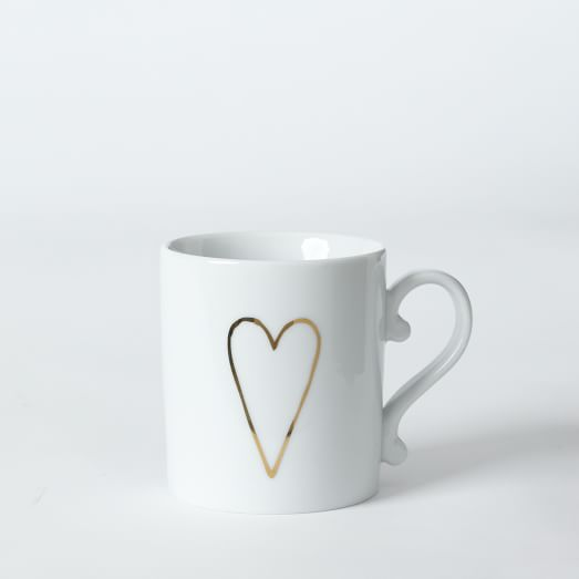 Heart Mug, Gold