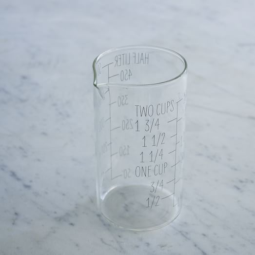 Labeled Kitchen, Glass Measuring Cup