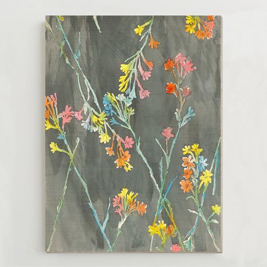 Birch Print, Irises II