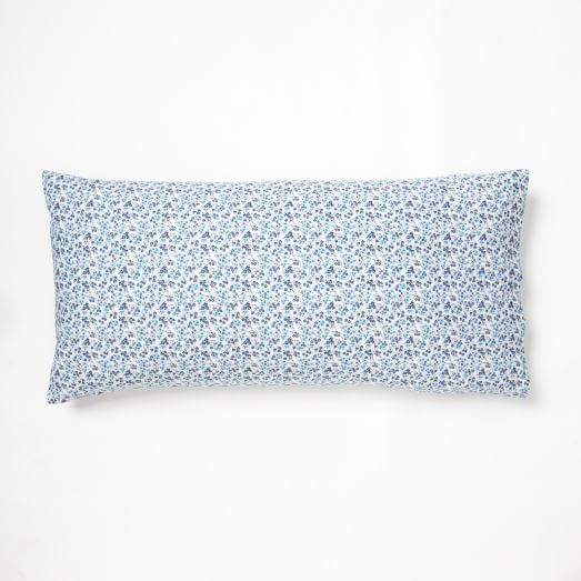 Organic Floral Bloom King Pillow Case, Set of 2, North Wind