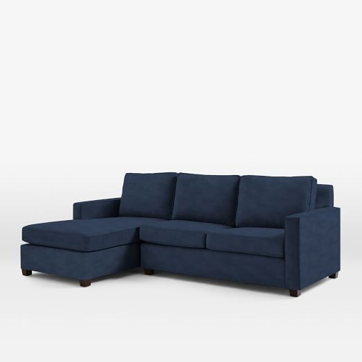 Henry 2 piece chaise sectional west elm for Cat window chaise