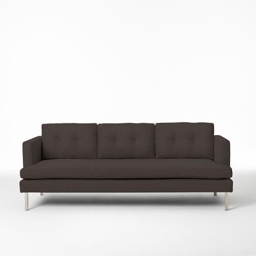 "Jackson 88"" Sofa, Basketweave, Iron"