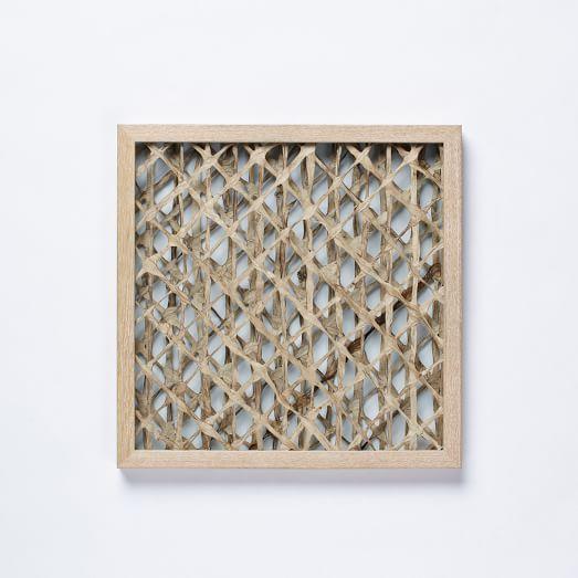 Handmade Paper Wall Art, Diagonal