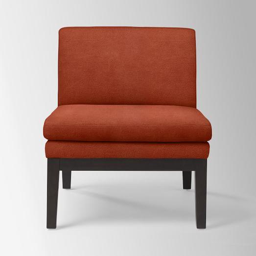 Slipper Chair, Performance Velvet, Poppy