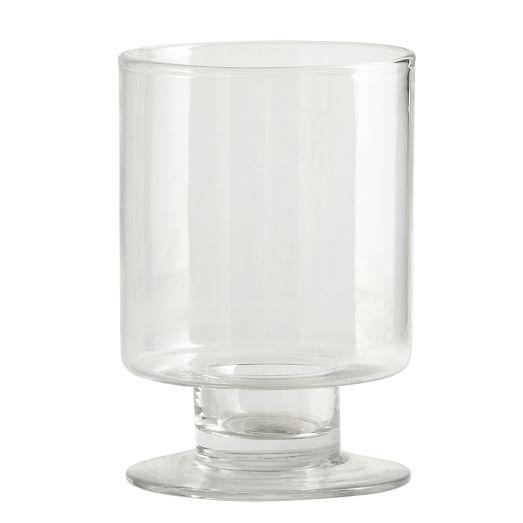 Footed Glass Hurricane, Small