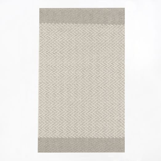 Oasis Flat Weave Rug 5'x8', Natural Gray
