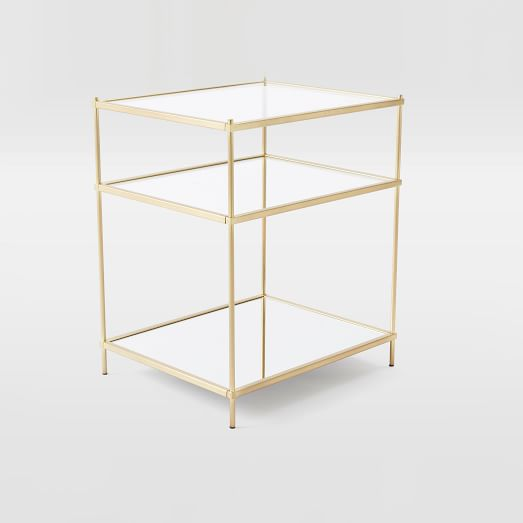 terrace nightstand antique brass west elm
