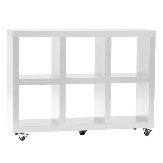 Rolling Storage, 3' x 2', White Lacquer