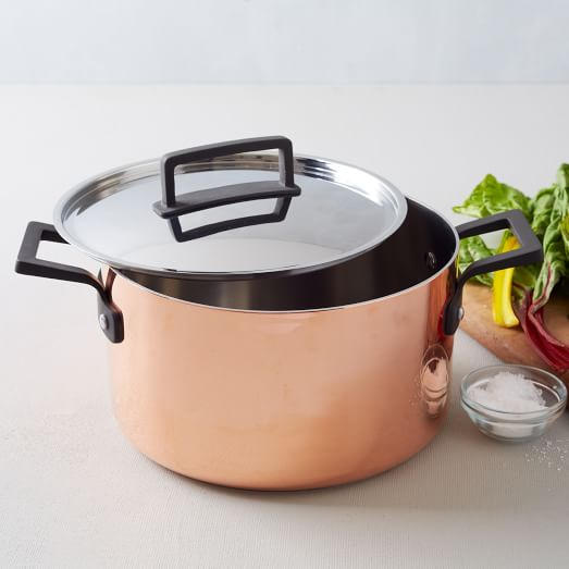 Tri-Ply Copper Cookware, 6.5 Qt, Stock Pot