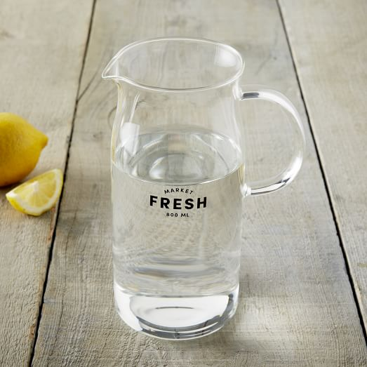 Glass Pitcher, Small (800ml)