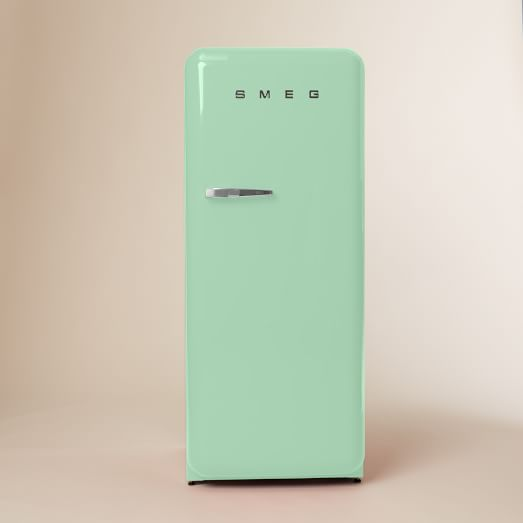 SMEG, Refrigerator, Pastel Green, Right Hinge