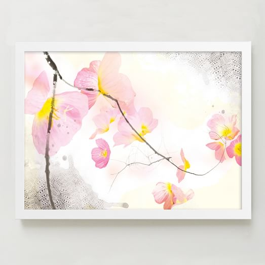 Minted for West Elm, Cherry Blossoms